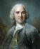 """Maurice Quentin de La Tour (1704-1788). """"Portrait d'homme au gilet bleu"""". Pastel, vers 1750-1755. Paris, musée Cognacq-Jay.  © Musée Cognacq-Jay/Roger-Viollet"""