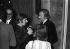 Pierre Vassiliu (1937-2014) et Nino Ferrer (1934-1998), chanteurs français, chez Eddie Barclay. France, 21 mars 1972.   © Patrick Ullmann / Roger-Viollet
