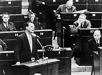 Council of Europe. Willy Brandt (1913-1992), mayor of West Berlin. © Roger-Viollet