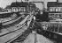 World War II. Front of Normandy, June 1944. Repairing of a destroyed railway bridge. © Jacques Boyer/Roger-Viollet