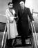 Jawaharlal Nehru (1889-1964), homme d'Etat indien, et sa fille Indira Gandhi (1917-1984), femme politique indienne, venus assister au couronnement de la reine Elisabeth II. Londres (Angleterre), 16 juin 1953. © TopFoto/Roger-Viollet