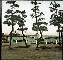 The seaside. Yokohama (Japan), 1900-1905. Detail from a colorized stereoscopic view. © Léon et Lévy / Roger-Viollet