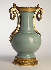 """Jean-Charles Delafosse. """"Vase de forme balustre en céladon vert clair (monture de bronze doré Louis XVI)"""". Paris, musée Cognacq-Jay.     © Irène Andréani / Musée Cognacq-Jay / Roger-Viollet"""