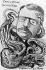 Le président Théodore Roosevelt et les Trusts. Caricature de Rostro, 1903. © Roger-Viollet