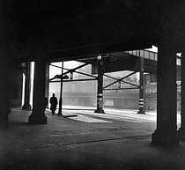 The elevated railway in High Street, New York (United States), January 1937. © US National Archives / Roger-Viollet