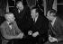 Harry S. Truman (1884 - 1972) Président des USA (1945 - 1953) avec le sécretaire géneral des NU  Trygve Lie, le sécretaire géneral suppléant des NU (deuxième de gauche) et le ministre américain des affaires étrangeres  Dean Acheson. 31.5.50.         . © Ullstein Bild/Roger-Viollet