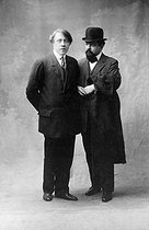 André Caplet (1878-1925) and Claude Debussy (1862-1918), French composers. © Roger-Viollet