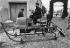 "The ""Peroche"" motor sleigh. Chamonix (France), 1909. © Maurice-Louis Branger/Roger-Viollet"
