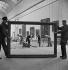 Travaux de réaménagement de la Grande Galerie du musée du Louvre. Paris (Ier arr.), 1947. Photographie de Pierre Jahan (1909-2003). © Pierre Jahan/Roger-Viollet