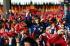 Fête de la FDJ (Freie Deutsche Jugend, mouvement de jeunesse officiel de la RDA) pendant la Pentecôte à Berlin-Est. 1984.   © Ullstein Bild/Roger-Viollet
