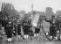 Flag of the 1st regiment of Senegalese infantrymen at the Longchamp racecourse. Paris (XVIth arrondissement), on July 14, 1913. © Maurice-Louis Branger/Roger-Viollet