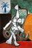 """Pablo Picasso (1881-1973). """"Femme nue dans un rocking chair"""". Huile sur toile, 1956. © Iberfoto / Roger-Viollet"""