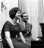 La princesse Sophie de Grèce (née en 1938), fiancée du prince Juan Carlos (né en 1938), héritier du trône d'Espagne. Londres (Angleterre), 31 janvier 1962. © TopFoto/Roger-Viollet