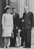 Jackie Kennedy (1929-1994), John Fitzgerald Kennedy (1917-1963), président des Etats-Unis, et Charles de Gaulle (1890-1970), président de la République française. Paris, 1er juin 1961. © TopFoto / Roger-Viollet