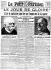 """Guerre 1914-1918. Une du journal """"Le Petit Parisien"""" du 12 novembre 1918, annonçant la capitulation allemande.       © Roger-Viollet"""