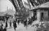 Eiffel Tower. Entrance of the public. Paris (VIIth arrondissement), around 1900. © Neurdein / Roger-Viollet