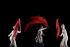 """L'or du Rhin"" de Richard Wagner. Mise en scène: Gunter Kramer. Librettiste: Richard Wagner. Direction musicale: Philippe Jordan. Mouvements chorégraphiques: Otto Pichler. Décors: Jurgen Backmann. Lumières: Diego Leetz. Costumes: Falk Bauer. Interprètes: Peter Sidhom (Alberich), Caroline Stein (Woglinde), Woglinde Anja (Wellgunde), Wiebke Lehmkuhl (Flosshilde). Paris, Opéra Bastille, 13 juin 2013. © Colette Masson/Roger-Viollet"