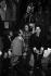 Régine, Charles Aznavour, Guy Béart, Dalida, Enrico Macias, Roger Pierre et Jean-Marc Thibault, artistes français, dans les studios de RTL pendant une émission animée par Philippe Bouvard et Anne-Marie Peysson. 1968. © Noa / Roger-Viollet
