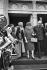 Le général de Gaulle et Madame de Gaulle sortant de la cathédrale d'Addis-Abeba, août 1966. © Roger-Viollet