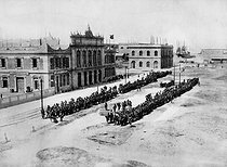 American intervention in Mexico. Veracruz railway station, headquarters of US troops. 1914. © Albert Harlingue/Roger-Viollet