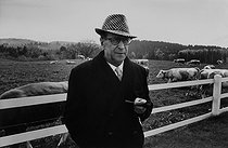 Georges Simenon (1903-1989), Belgian writer. Lausanne (Switzerland), March 1966. Photograph by Jean Marquis (1926-2019). © Jean Marquis / Roger-Viollet