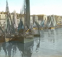 Dieppe (Seine-Maritime, France). View of the port. Detail of a colorized stereoscopic view. © Léon et Lévy / Roger-Viollet