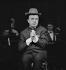 Fernand Raynaud (1926-1973), acteur et humoriste français, au théâtre de l'A.B.C. Paris, février 1963. © Claude Poirier / Roger-Viollet