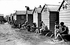 Beach huts, around 1910. © CAP/Roger-Viollet