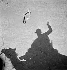 A meharist's shadow and a camel's skeleton. Sahara, July 1945. © Gaston Paris / Roger-Viollet