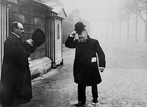 Jean Jaurès (1859-1914), French politician, arriving at the Chamber of Députies for the Commission of investigation. 1910. © Maurice-Louis Branger/Roger-Viollet