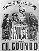 """Poster for """"Faust"""", opera by Charles Gounod. © Roger-Viollet"""