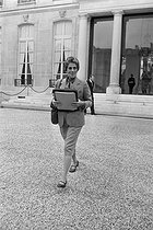Françoise Giroud, State Secretary charged of the feminine condition from 1974 till 1976. JAC-10818-14 © Jacques Cuinières / Roger-Viollet