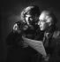 Abel Gance (1889-1981), French director and Nelly Kaplan (born in 1936), Argentinian-born French director and writer, November 1956. © Boris Lipnitzki/Roger-Viollet