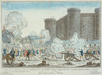 Storming of the Bastille by the bourgeois and brave French guards of Paris, on July 14, 1789. Paris, musée Carnavalet.    © Musée Carnavalet/Roger-Viollet