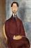 """Amedeo Modigliani (1884-1920). """"Léopold Zborowski (1889-1932), poète polonais et marchand d'art moderne"""". Huile sur toile, 1918. São Paulo (Brésil), musée d'art de São Paulo (MASP).  © Iberfoto / Roger-Viollet"""