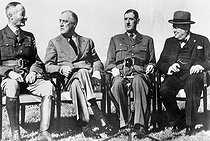 World War II. Anfa meeting (near Casablanca). From left to right: General Giraud, F. D. Roosevelt, General De Gaulle and W. Churchill, January 1943. © Roger-Viollet