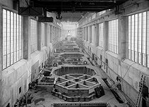 Sources of energy. Machine room at the hydroelectric power station of Kembs (France). Company: Energie Electrique du Rhin, 1931. Photograph by François Kollar (1904-1979). Paris, Bibliothèque Forney. © François Kollar / Bibliothèque Forney / Roger-Viollet