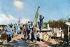 Guerre 1914-1918. Canon antiaérien mobile français à Verdun (Meuse). France, 1916. Fac-similé de plaque autochrome de Jules Gervais-Courtellemont.  © Bilderwelt/Roger-Viollet
