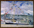 """Paul-César Helleu (1859-1927). """"Le yacht pavoisé à Deauville"""". Rouen, musée des Beaux-Arts. © Roger-Viollet"""
