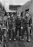 World War II. Front of Normandy, July 1944. English paratroopers taken prisoners. © LAPI/Roger-Viollet