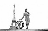 World War II. Folding bicycle. Paris, on August 1st, 1941. © LAPI / Roger-Viollet