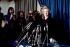 Margaret Thatcher (1925-2013), femme politique anglaise, donnant une conférence de presse après avoir été élue chef du parti conservateur. Londres (Angleterre), 11 février 1975. © PA Archive / Roger-Viollet