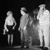 """Extra-muros'. Raymond Devos, A. Didier and Pierre Doris. Paris, Théâtre des variétés, September 1967. © Studio Lipnitzki / Roger-Viollet"
