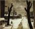 Robert Louis Antral (1895-1939). Snow at the Poterne de la Plaine. Oil on canvas, 1926. Paris, musée Carnavalet. © Musée Carnavalet/Roger-Viollet