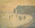 """Claude Monet (1840-1926). """"Etretat"""", 1886. Moscou (Russie), musée Pouchkine. © Alinari/Roger-Viollet"""