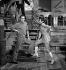 Alain Delon (né en 1935), acteur français, et Madly, lors d'une émission de télévision. Février 1971. © Patrick Ullmann / Roger-Viollet