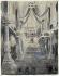 """""""Funérailles de Sadi Carnot (1837-1894), homme d'Etat français, à Notre-Dame, 1894"""". Dessin d'Edmond Allouard (1801-1866). Paris, musée Carnavalet. © Musée Carnavalet / Roger-Viollet"""