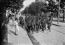World War One. Departure of soldiers from the 24th regiment. Paris, August 1914. © Maurice-Louis Branger/Roger-Viollet