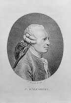 Jean Le Rond d'Alembert (1717-1783), French philosopher and mathematician. Engraving by Bonneville. © Jacques Boyer / Roger-Viollet