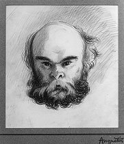 Louis Anquetin (1861-1932). Paul Verlaine (1844-1896), French poet, in 1894.     © Albert Harlingue / Roger-Viollet